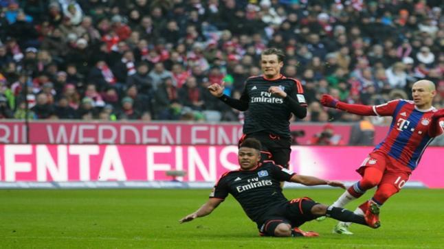 مشاهدة مباراة بايرن ميونخ وهامبورج بث مباشر يوتيوب لايف اون لاين بي ان سبورت 4 الدوري الالماني