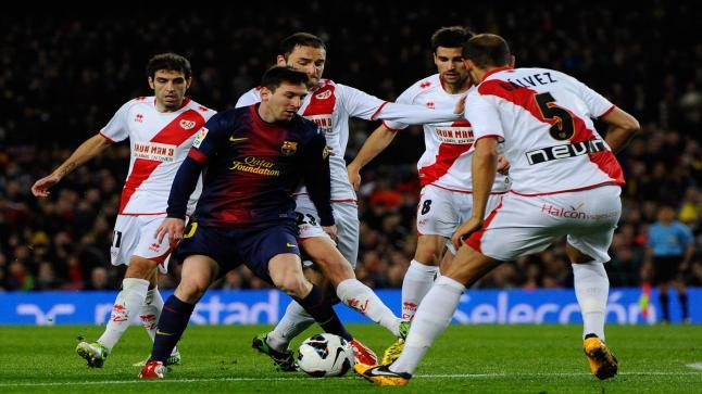 نتيجة الشوط الأول من مباراة برشلونة ورايو فاليكانو وأسبقية كتلونية وأهداف الفترة الأولى يوتيوب