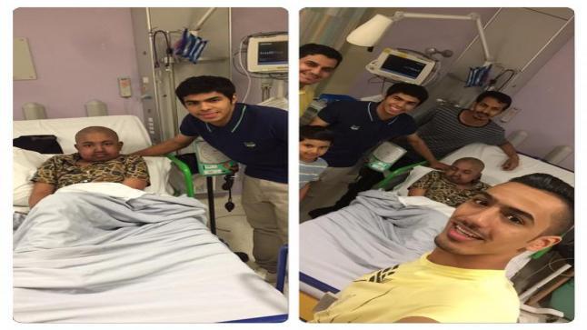 يحيى الشهري لاعب وسط نادي النصر السعودي يقوم بلفتة جميلة لطفل مصاب بالسرطان